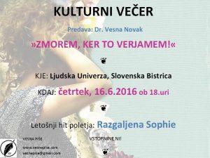 Kulturni večer Slov. Bistrica 16.6.2016